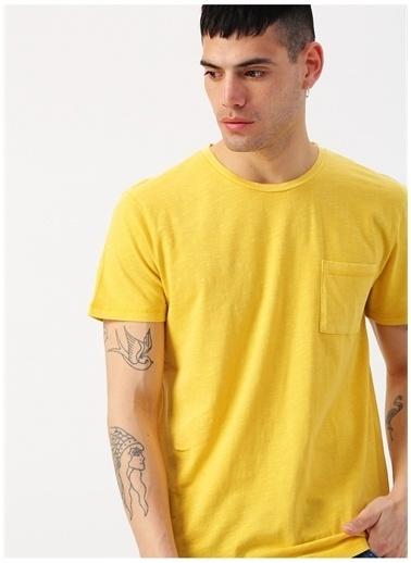 Mustang Mustang Çizgili Sarı T-Shirt Sarı